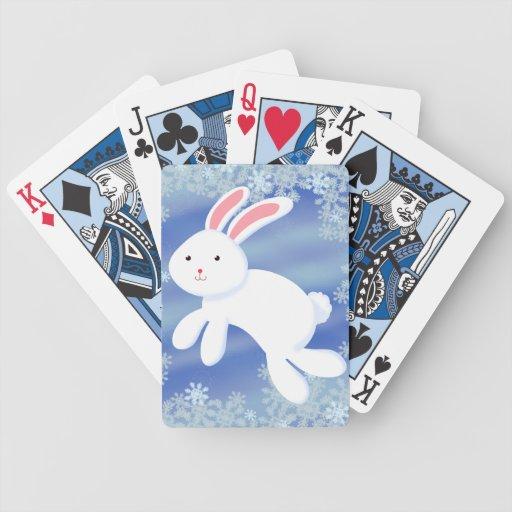 Conejito de la nieve cartas de juego