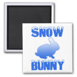 Conejito de la nieve imanes de nevera