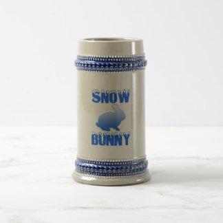 Conejito de la nieve jarra de cerveza