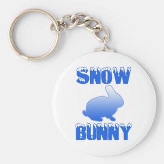 Conejito de la nieve llavero redondo tipo pin
