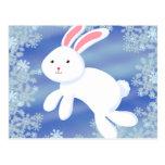 Conejito de la nieve postal