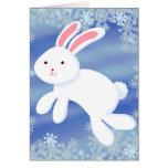 Conejito de la nieve tarjeta de felicitación