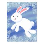 Conejito de la nieve tarjeta postal