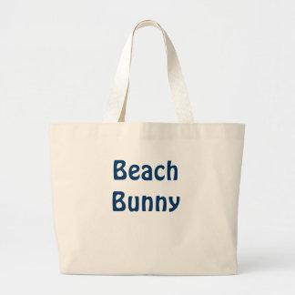Conejito de la playa bolsa tela grande