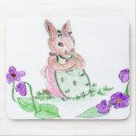 Conejito de la primavera alfombrillas de raton