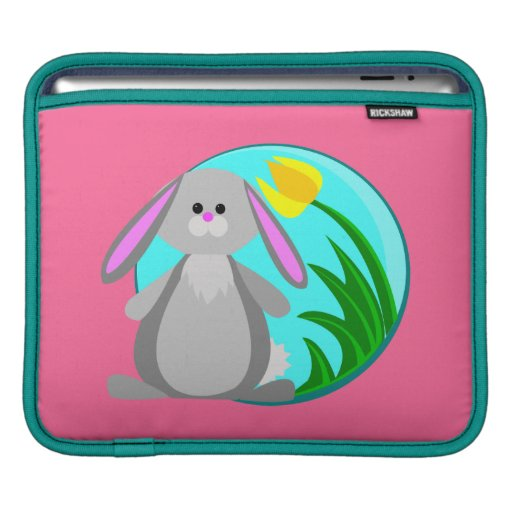 Conejito de la primavera funda para iPads