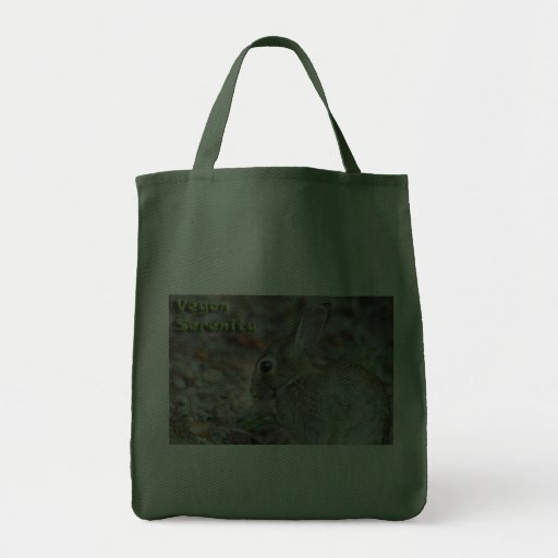 Conejito de la serenidad del vegano bolsa tela para la compra