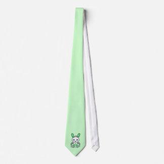 Conejito de la verde menta de Kawaii Corbatas Personalizadas