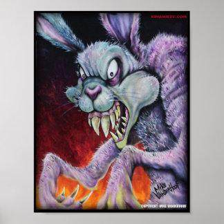 Conejito de las drogas - impresión de color poster