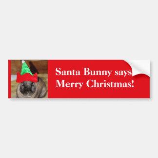 Conejito de las Felices Navidad con el regalo del  Pegatina Para Auto