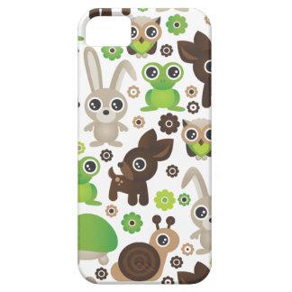 Conejito de los ciervos de la tortuga de la rana d iPhone 5 cárcasas