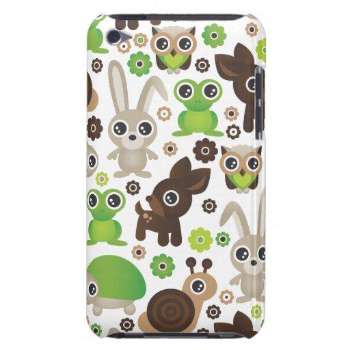 Conejito de los ciervos de la tortuga de la rana d Case-Mate iPod touch cárcasa