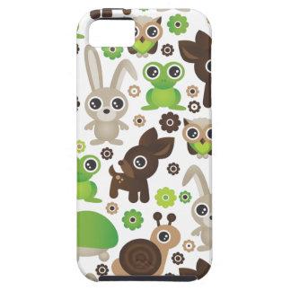 Conejito de los ciervos de la tortuga de la rana d iPhone 5 Case-Mate coberturas
