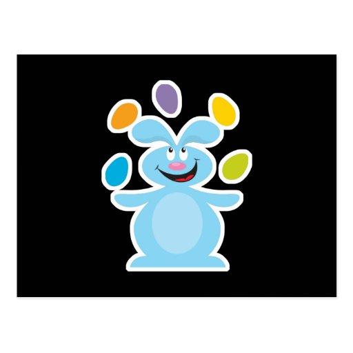 conejito de los huevos de Pascua que hace juegos m Postales