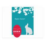 conejito de los huevos de Pascua Tarjetas Postales