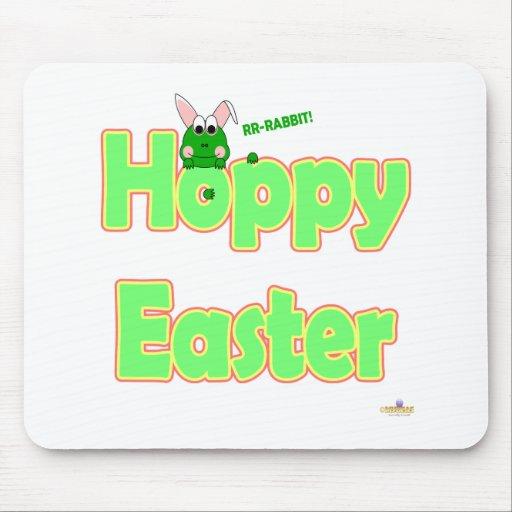Conejito de lúpulo de la rana de Pascua Tapetes De Ratones