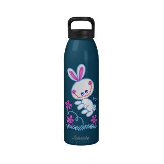 Conejito de lúpulo feliz botellas de agua reutilizables