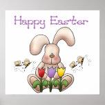 Conejito de pascua 2 - impresión feliz de Pascua Poster