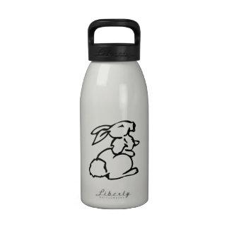 Conejito de pascua botella de agua