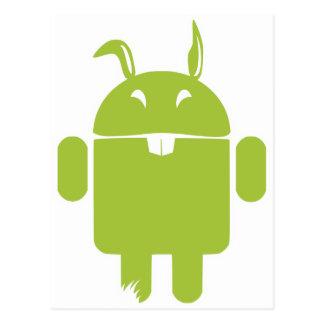 Conejito de pascua androide postal