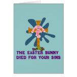 Conejito de pascua ateo tarjeta