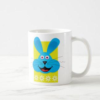 Conejito de pascua azul tazas de café