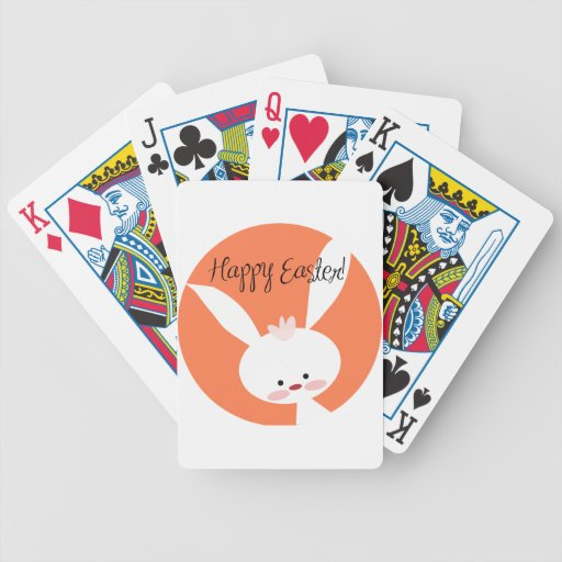 Conejito de pascua baraja cartas de poker
