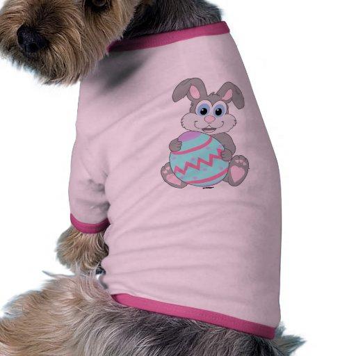 Conejito de pascua camiseta con mangas para perro