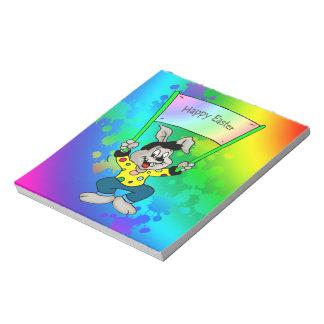 Conejito de pascua colorido bloc de notas