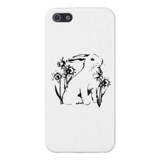 Conejito de pascua con las flores iPhone 5 coberturas