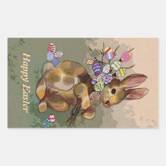 Conejito de pascua con los huevos rectangular altavoces