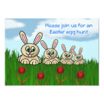 Conejito de pascua de la diversión de Pascua de la Invitación 12,7 X 17,8 Cm