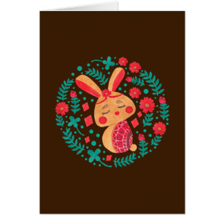Conejito de pascua de la primavera tarjeta de felicitación