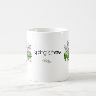 Conejito de pascua de lúpulo tazas de café