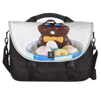 Conejito de pascua del chocolate bolsas de portátil