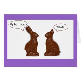 ¿Conejito de pascua del chocolate qué? Tarjeta