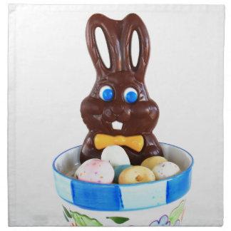 Conejito de pascua del chocolate servilletas de papel