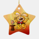 Conejito de pascua del mago ornaments para arbol de navidad