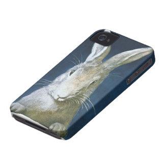 Conejito de pascua del vintage, conejo blanco carcasa para iPhone 4