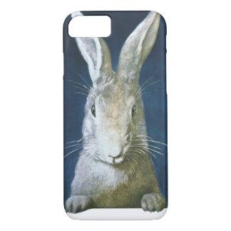 Conejito de pascua del vintage, conejo blanco funda iPhone 7