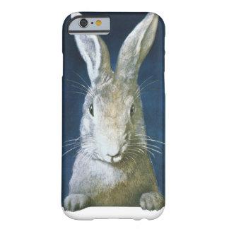 Conejito de pascua del vintage, conejo blanco funda para iPhone 6 barely there