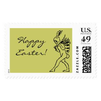 ¡Conejito de pascua del vintage Pascua feliz! Sellos