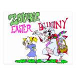 Conejito de pascua del zombi postal