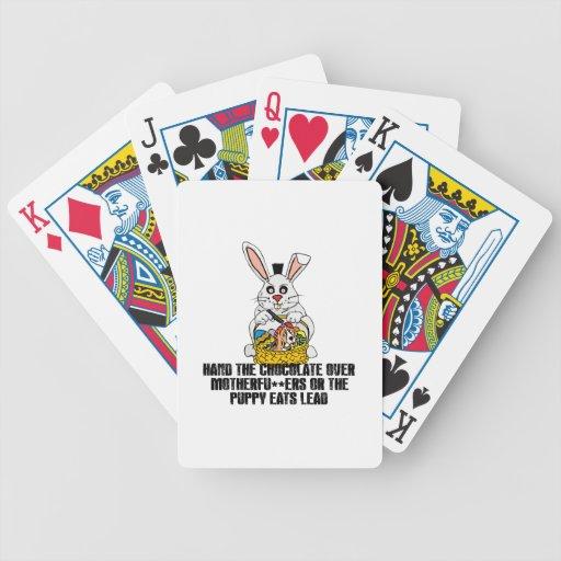 Conejito de pascua desagradable baraja de cartas