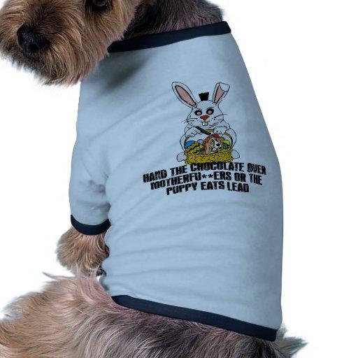 Conejito de pascua desagradable camisa de mascota