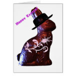 Conejito de pascua en gorra tarjeta