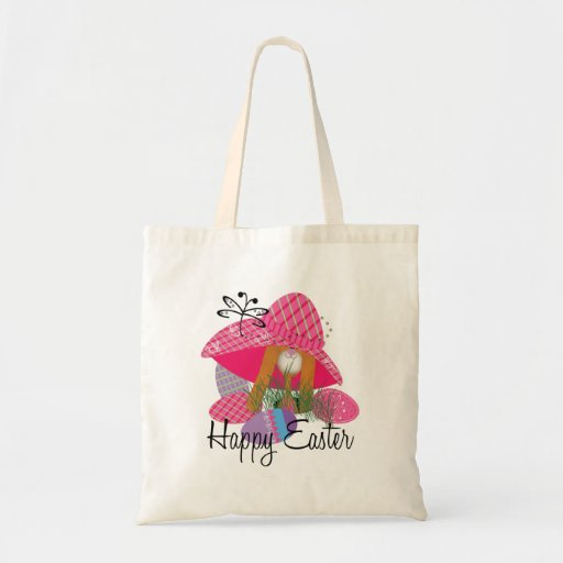 Conejito de pascua feliz bolsa tela barata