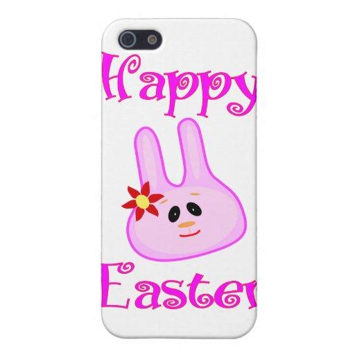 Conejito de pascua feliz iPhone 5 carcasas