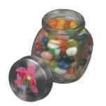 Conejito de pascua feliz jarras de cristal