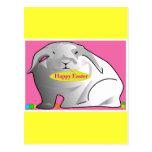 Conejito de pascua feliz postales